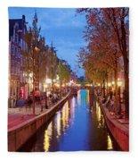 Red Light District In Amsterdam Fleece Blanket
