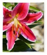 Red Lilly 8095 Fleece Blanket