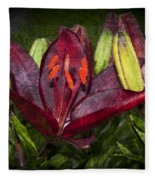 Red Lily 5 Fleece Blanket