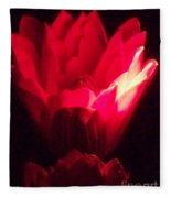 Red Lily At Night Fleece Blanket