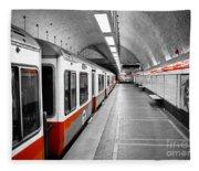 Red Line Fleece Blanket