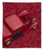 Red Lines Fleece Blanket