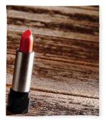 Red Lipstick Fleece Blanket