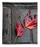 Red Maple Bricks Fleece Blanket