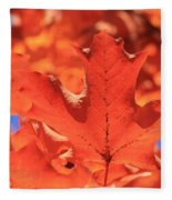 Peak Color Maple Leaves Fleece Blanket
