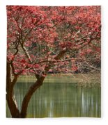 Red Maple Fleece Blanket