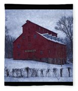 Red Mill Antique Barn Fleece Blanket