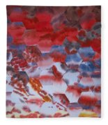 Red Morning With Two Ducks Fleece Blanket