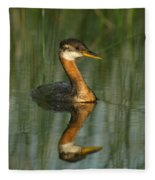 Red-necked Grebe Fleece Blanket