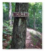 Red North Sign Fleece Blanket