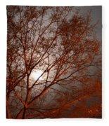 Red Oak At Sunrise Fleece Blanket