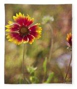 Red On Yellow Fleece Blanket