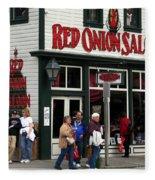 Red Onion Saloon Fleece Blanket