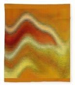Red Orange And Yellow Glass Waves Fleece Blanket
