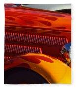 Red Orange And Yellow Hotrod Fleece Blanket