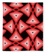Red Ornament IIi Fleece Blanket