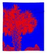 Red Palm Fleece Blanket