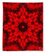 Red Patchwork Art Fleece Blanket