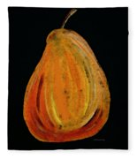 Red Pear - Delicious Modern Fruit Food Art Print Fleece Blanket