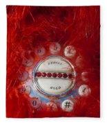 Red Phone For Emergencies Fleece Blanket