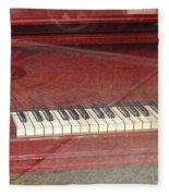 Red Piano 2 Fleece Blanket