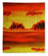 Red Planet Fleece Blanket