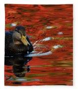Red Pond Fleece Blanket