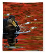 Red Pond Fleece Blanket