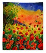 Red Poppies 45 Fleece Blanket