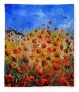 Red Poppies 562111 Fleece Blanket