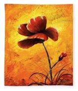 Red Poppy 012 Fleece Blanket
