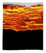 Red Rays Fleece Blanket