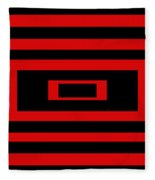 Red Rectangle Fleece Blanket