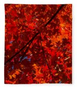 Red Red And Red Fleece Blanket