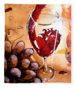 Red Red Wine Fleece Blanket
