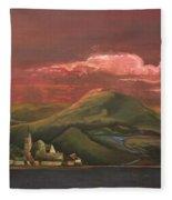 Red Rhine Fleece Blanket