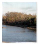 Red River Looking East Fleece Blanket