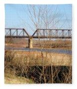 Red River Train Trussell Fleece Blanket