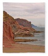 Red Rock By Sea Of Cortez From San Carlos-sonora Fleece Blanket