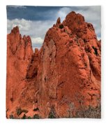 Red Rock Cluster Fleece Blanket