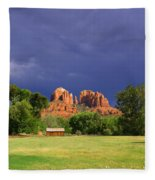 Red Rock Crossing Park Fleece Blanket