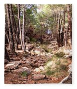 Red Rock Pine Forest Fleece Blanket