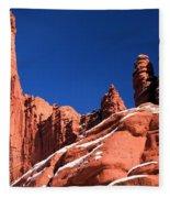 Red Rock Towers Fleece Blanket