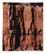 Red Rock Wall Fleece Blanket