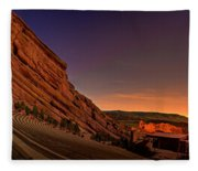 Red Rocks Amphitheatre At Night Fleece Blanket