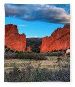 Red Rocks At Sunrise Fleece Blanket
