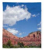 Red Rocks In Sedona Arizona Fleece Blanket