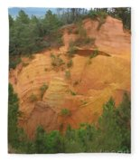 Red Rocks Of Roussillon Fleece Blanket