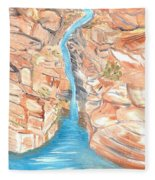 Red Rocks Of Water Fleece Blanket