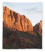 Red Rocks Of Zion Park Fleece Blanket